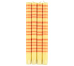 BRITISH COLOUR STANDARD - 25cm / 10'' H Striped Jasmine and Marigold Eco Dinner Candles, Gift Box of 4