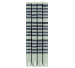 BRITISH COLOUR STANDARD - 25cm / 10'' H Striped Opaline and Indigo Eco Dinner Candles, Gift Box of 4