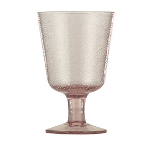 BRITISH COLOUR STANDARD - 13.5 cm H / 5.25'' Old Rose Handmade Wine Glass
