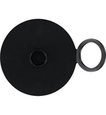 BRITISH COLOUR STANDARD - 11 cm D / 4.3'' D - Metal Candle Plate Raised Style - Jet Black
