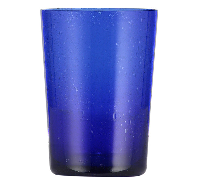 BRITISH COLOUR STANDARD - 11cm H / 4.25'' H Cornflower Blue Handmade Glass Tumbler