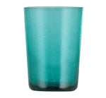 BRITISH COLOUR STANDARD - 11cm H / 4.25'' H Petrol Blue Handmade Glass Tumbler