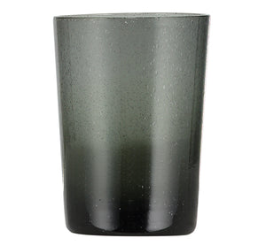 BRITISH COLOUR STANDARD - 11cm H / 4.25'' H Charcoal Grey Handmade Glass Tumbler
