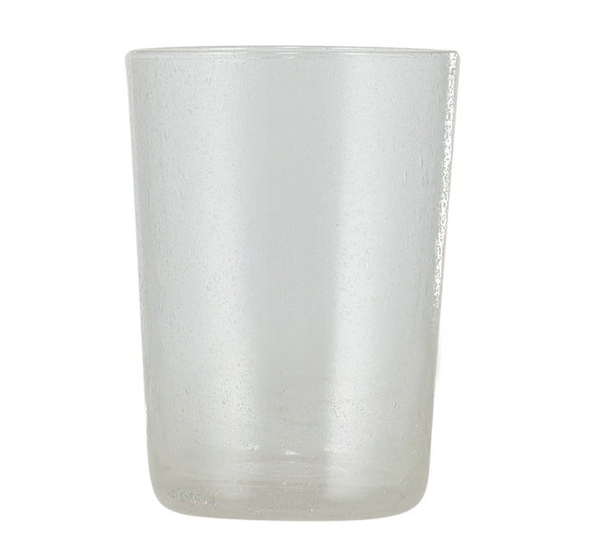 BRITISH COLOUR STANDARD - 11cm H / 4.25'' H Pearl White Handmade Glass Tumbler