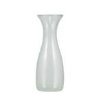 BRITISH COLOUR STANDARD - 23.5cm H / 9.25'' Pearl White Handmade Glass Carafe 0.50 Clt / 0.5 Quart