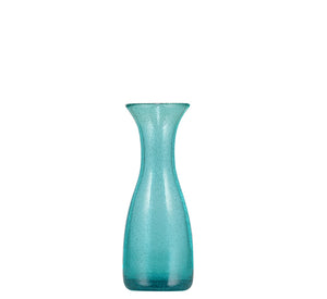 BRITISH COLOUR STANDARD - 19cm H / 7.4'' Honey Bird Blue Handmade Glass Carafe 25 Clt / 0.25 Quart