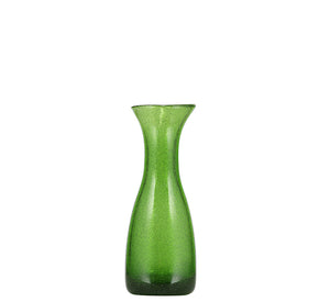 BRITISH COLOUR STANDARD - 19cm H / 7.4'' Apple Green Handmade Glass Carafe 25 Clt / 0.25 Quart
