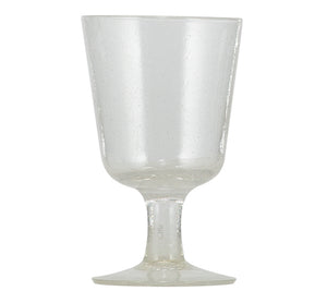 BRITISH COLOUR STANDARD - 13.5 cm H / 5.25'' Pearl White Handmade Wine Glass