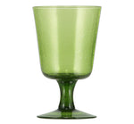 BRITISH COLOUR STANDARD - 13.5 cm H / 5.25'' Apple Green Handmade Wine Glass