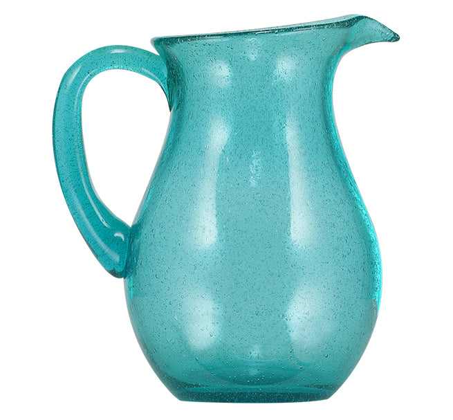 BRITISH COLOUR STANDARD - 1.5 L / 1.5 US Quarts Honey Bird Blue Handmade Glass Jug
