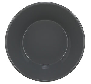 BRITISH COLOUR STANDARD - 17.2 cm D / 6.77'' Enamel Small Bowl in Gunmetal Grey, Boxed Set of 4