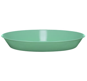BRITISH COLOUR STANDARD - 31 cm D / 12.2'' Enamel Pasta Plate in Porcelain Green, Boxed Set of 4