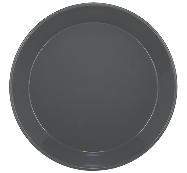 BRITISH COLOUR STANDARD - 31 cm D / 12.2'' Enamel Pasta Plate in Gunmetal Grey, Boxed Set of 4