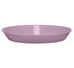 BRITISH COLOUR STANDARD - 31 cm D / 12.2'' Enamel Pasta Plate in Lavender Grey, Boxed Set of 4