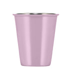 BRITISH COLOUR STANDARD - 9.5 cm H / 3.7'' Enamel Tumbler in Lavender Grey, Boxed Set of 4