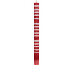 BRITISH COLOUR STANDARD - 25cm / 10'' H Striped Guardsman Red & Gull Grey Eco Dinner Candles, Gift Box of 4