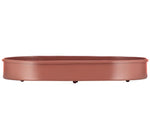 BRITISH COLOUR STANDARD - 37cm x 25cm / 14'' x 9.8'' Oval Metal Candle Platter - Brick Dust