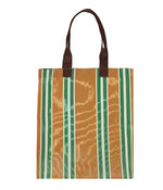BRITISH COLOUR STANDARD - 40 cm x 44 cm / 15.75'' x 17.3'' Woven Market Shopper in Spanish Orange & Grass Green