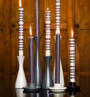 BRITISH COLOUR STANDARD - 15cm H / 5.9'' H  Medium Gunmetal Grey Candleholder