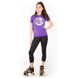JR Crest T-Shirt Purple and White