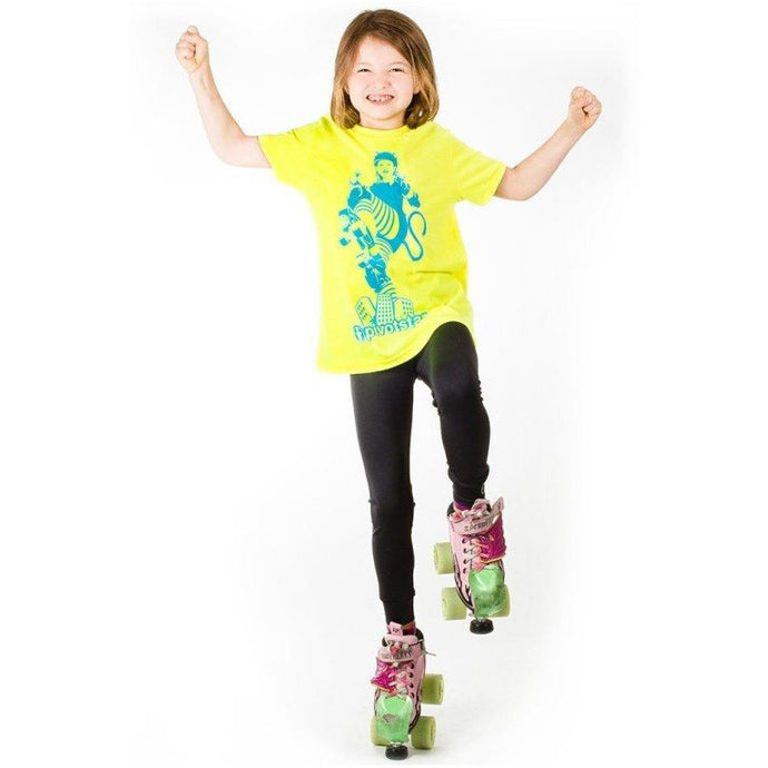 JR Tiki T-Shirt Neon Yellow and Blue