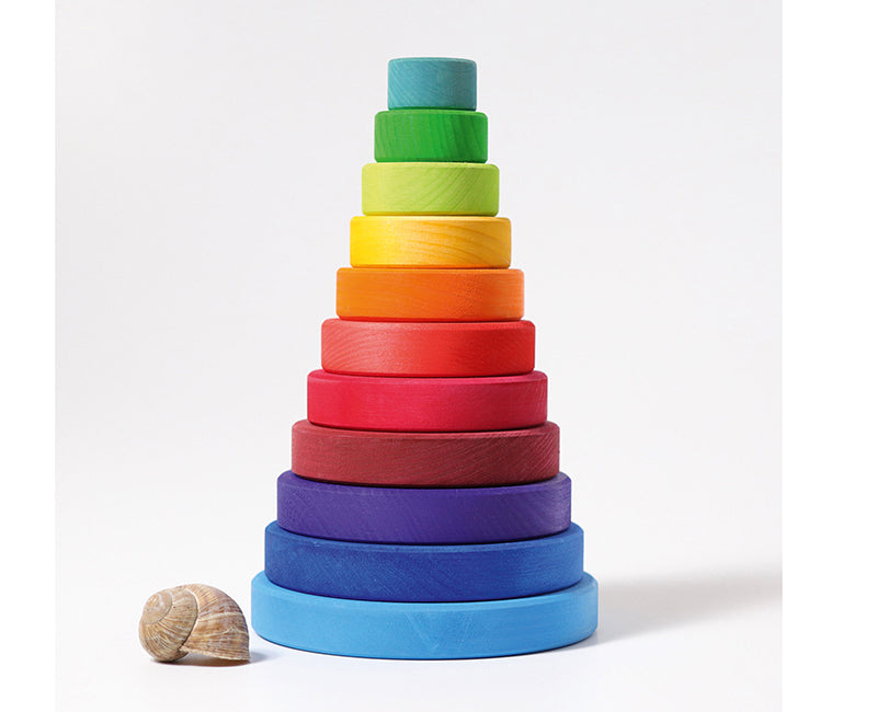 Conical tower rainbow