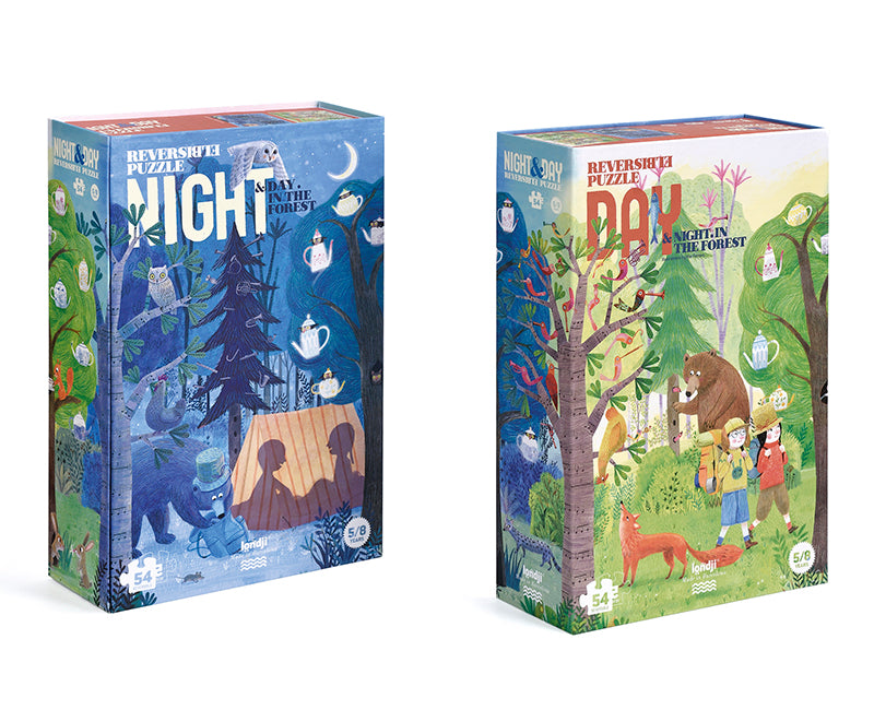 Night and day in the forest puzzle