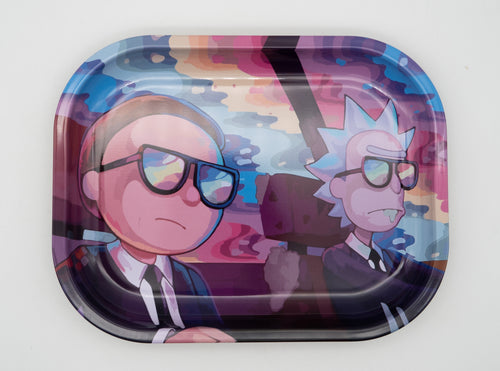 Science in Black Rolling Tray Rick and Morty