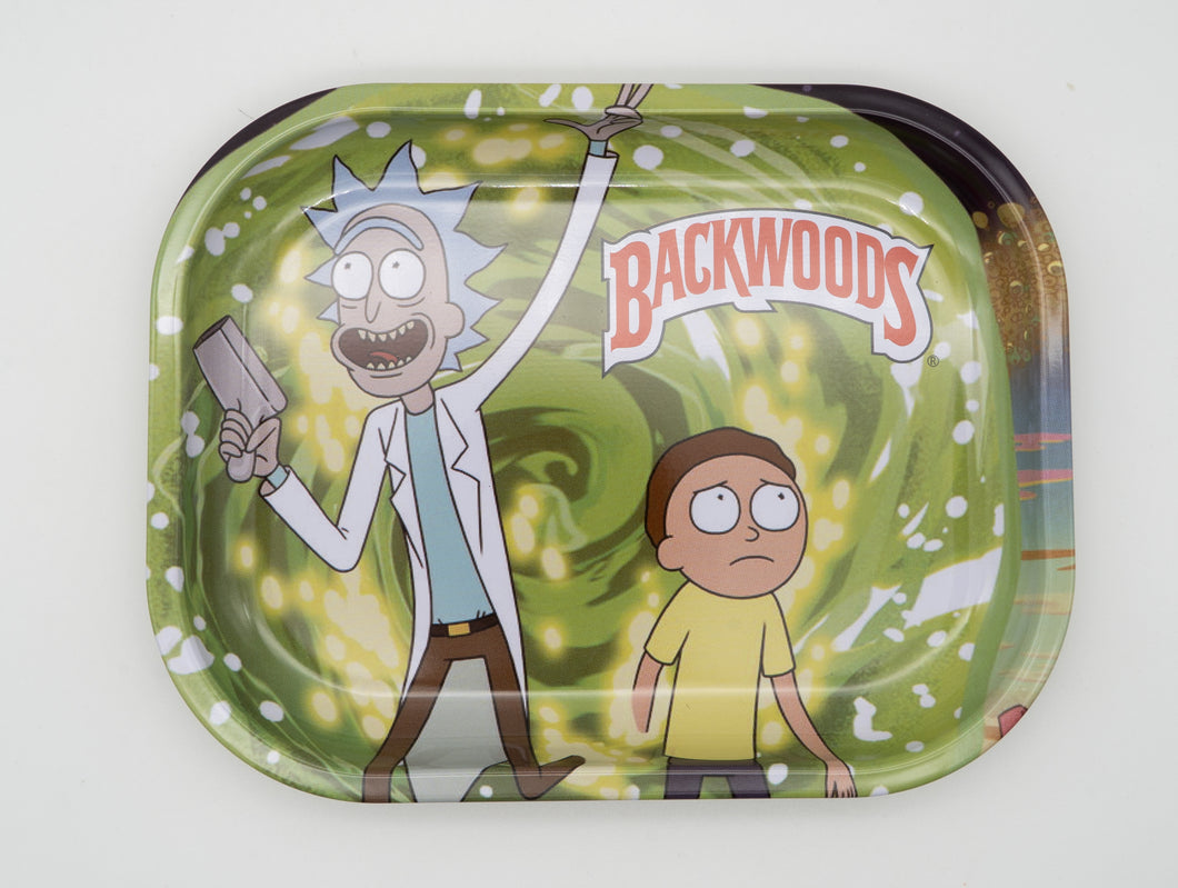 Out of the Portal Rick and Morty Tin Rolling Trays