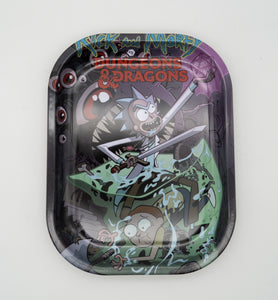 Rick and Morty: Dungeons and Dragons Tin Rolling Trays Dice Sword Science
