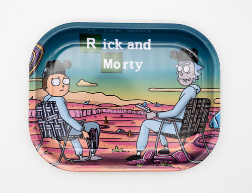 Breaking Science Tin Rolling Tray Rick and Morty