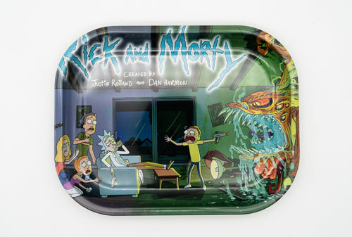 SAVE US RICK! Rick and Morty Tin Rolling Trays