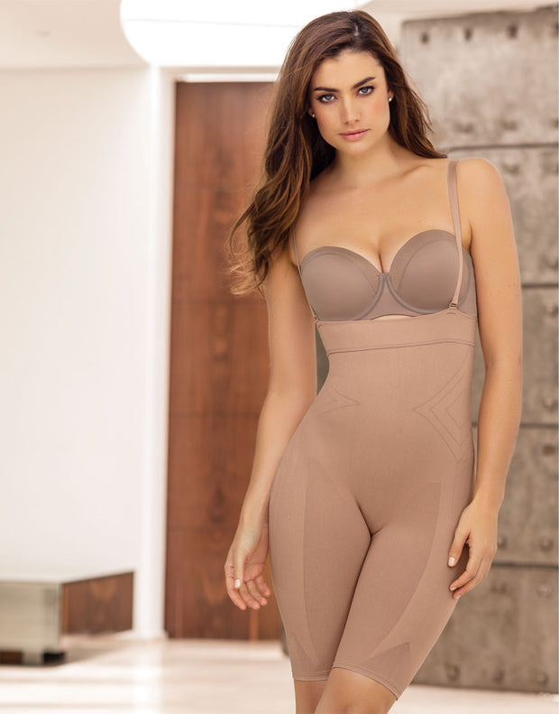 LEONISA SMOOTH TUMMY INVISIBLE THIGH CLASSIC SHAPER