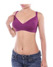 Losha Double Layered Wirefree Bra-Grape