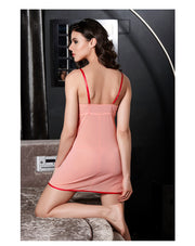 Penny Padded Underwired Babydoll With Thong-Salmon