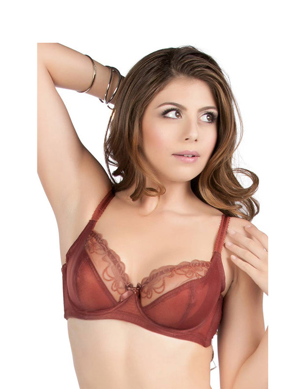 Penny Goddess Sheer Lace Underwired Bra