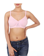 WIREFREE SUPER SUPPORT BRA WITH TOUCH OF LACE-Baby Pink