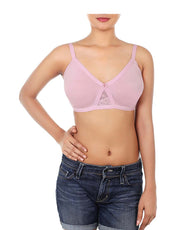 WIREFREE SUPER SUPPORT BRA WITH TOUCH OF LACE-DAWN PINK