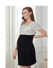 Polka Dots Maternity Sleep Shirt