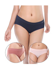 Tahari Pack of 3 Jacquard Textured Seamless Brief-Assorted