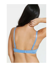 Losha Butter Cups Lightly Padded T-Shirt Bra-Steel Blue