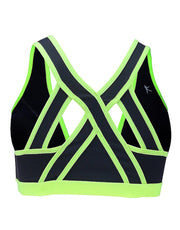 Danskin Front closure crisscross back sports bra