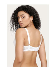 LOSHA WIREFREE SUPER SUPPORT BRA WITH TOUCH OF LACE-White
