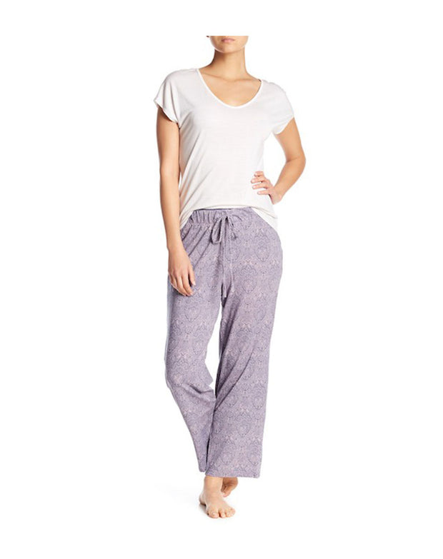 TAHARI WIDE WAISTBAND SINGLE PANT-MAUVE