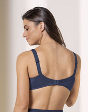 Leonisa Full Coverage Bra in Lace with Smooth Control- Blue