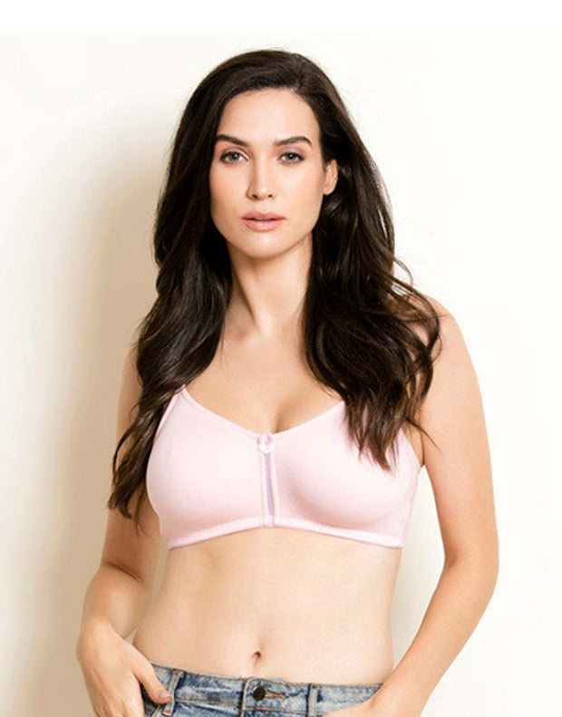 Losha Double Layered Wirefree Bra With High Mid Panel