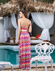PENNY MY BOHEMIAN CHIC LIQUID DRAPE MAXI DRESS