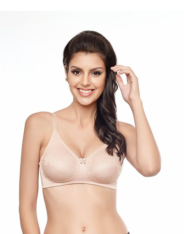 Penny Quattro Lift High-Coverage Moulded Wirefree Bra With Side Shaper Slings-Skin