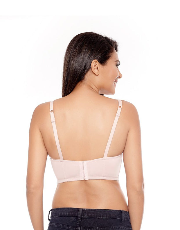 Penny Pastel Power Wired Gentle Push Up Long Line Plunge Bra