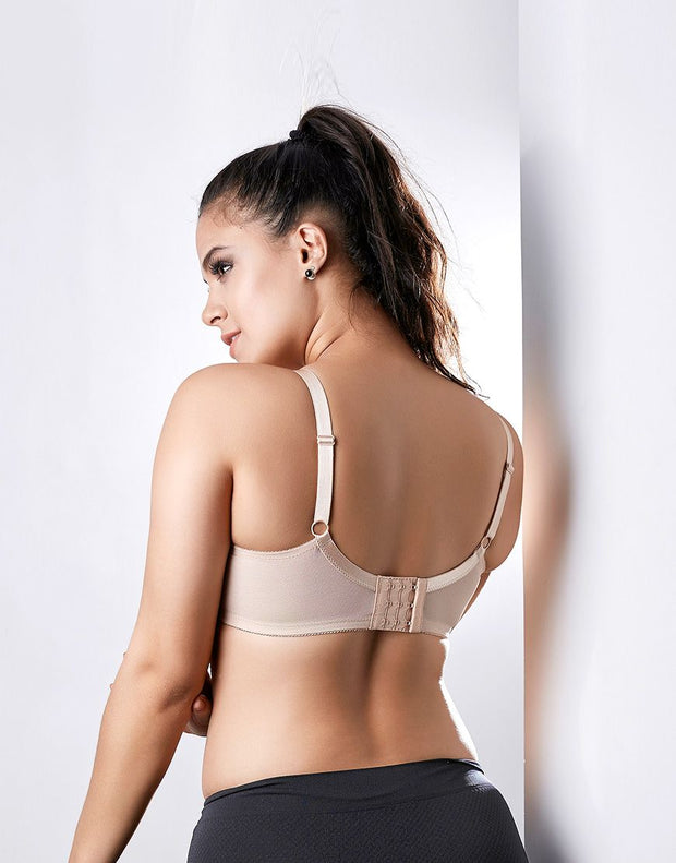 Penny Quattro Minimiser Full Coverage Wirefree Bra With Non-Stretch Cups And Centric Straps
